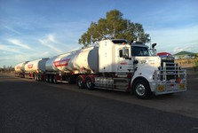 Road train on its way