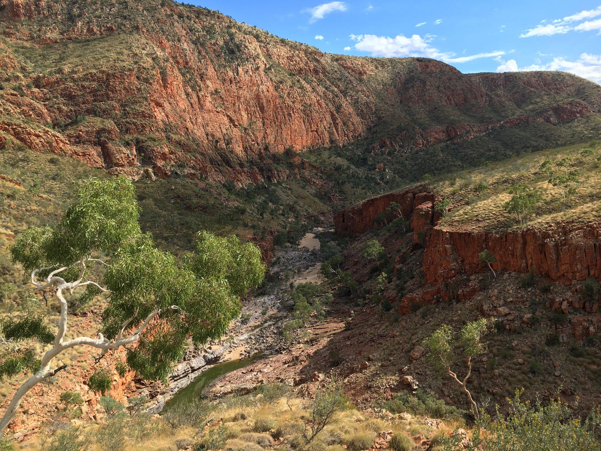 Центральная Австралия бывает и так холмистой