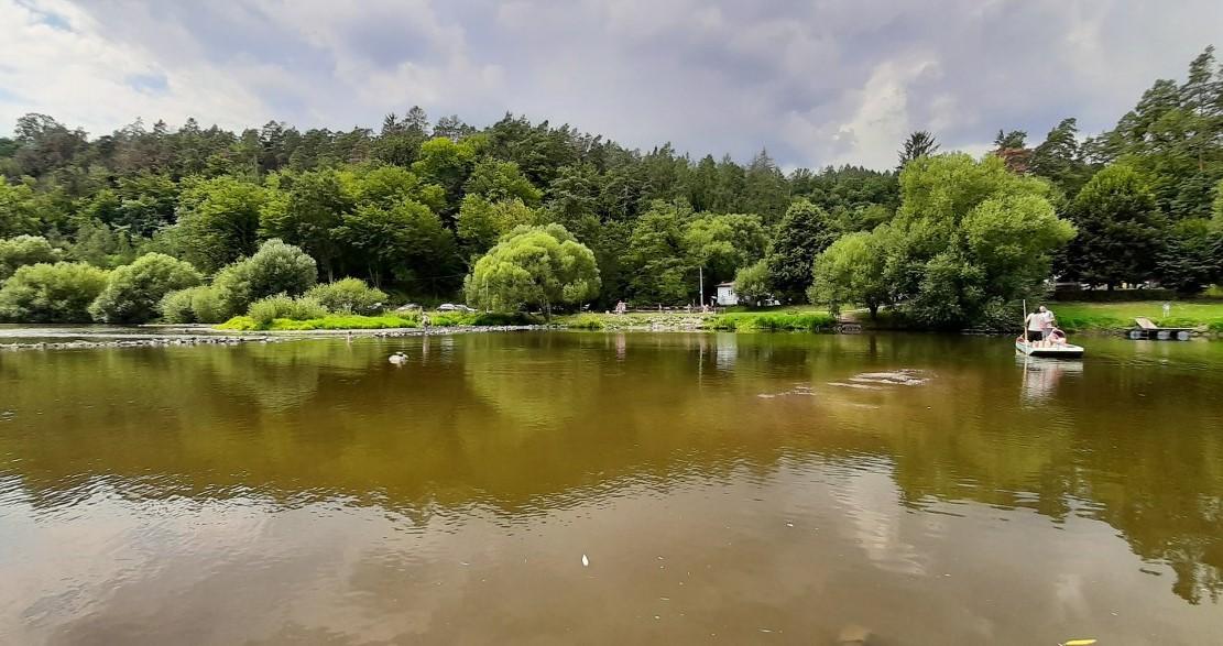 the Sázava river