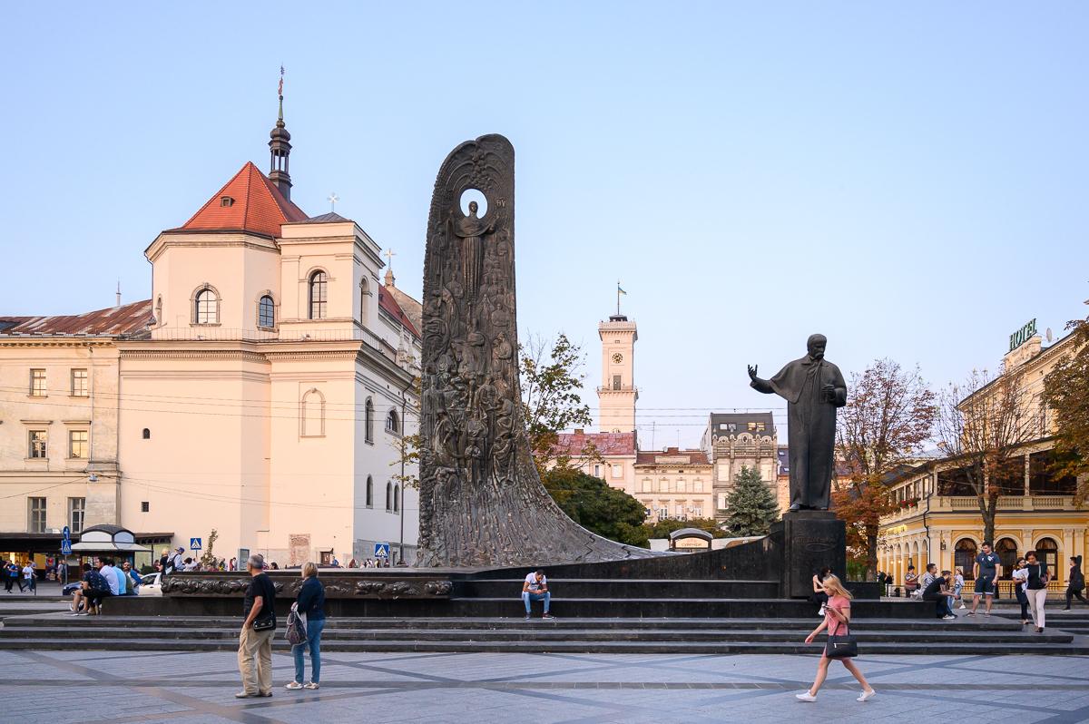 pomník Tarasa Shevchenka