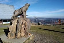 na vrcholu Fichtelbergu