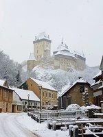 romantická zima na Karlštejně