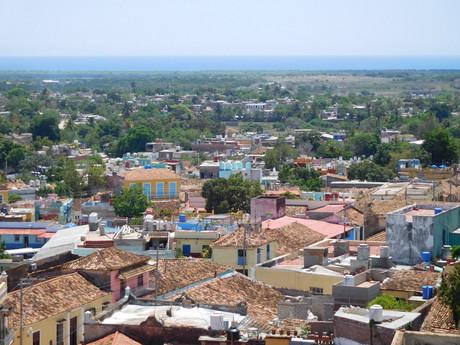 výhled ze zvonice Covento San Franciso de Asís