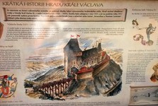 the ruin of Novy Hradek castle (reconstruction)
