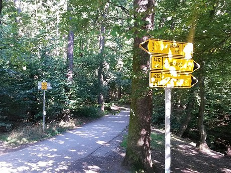 Kunratický les - cyklotrasy