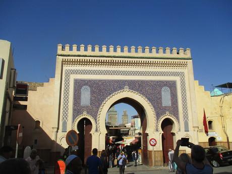 синие ворота в Фесе