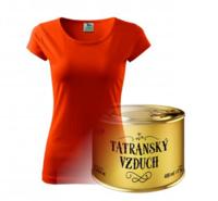 Tatranský vzduch a tričko Slovakia - ilustračné foto