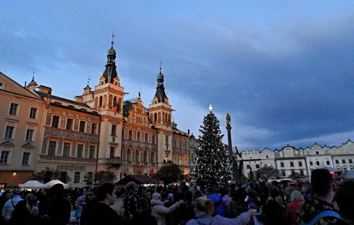 Perštýnské náměstí v rámci adventních trhů