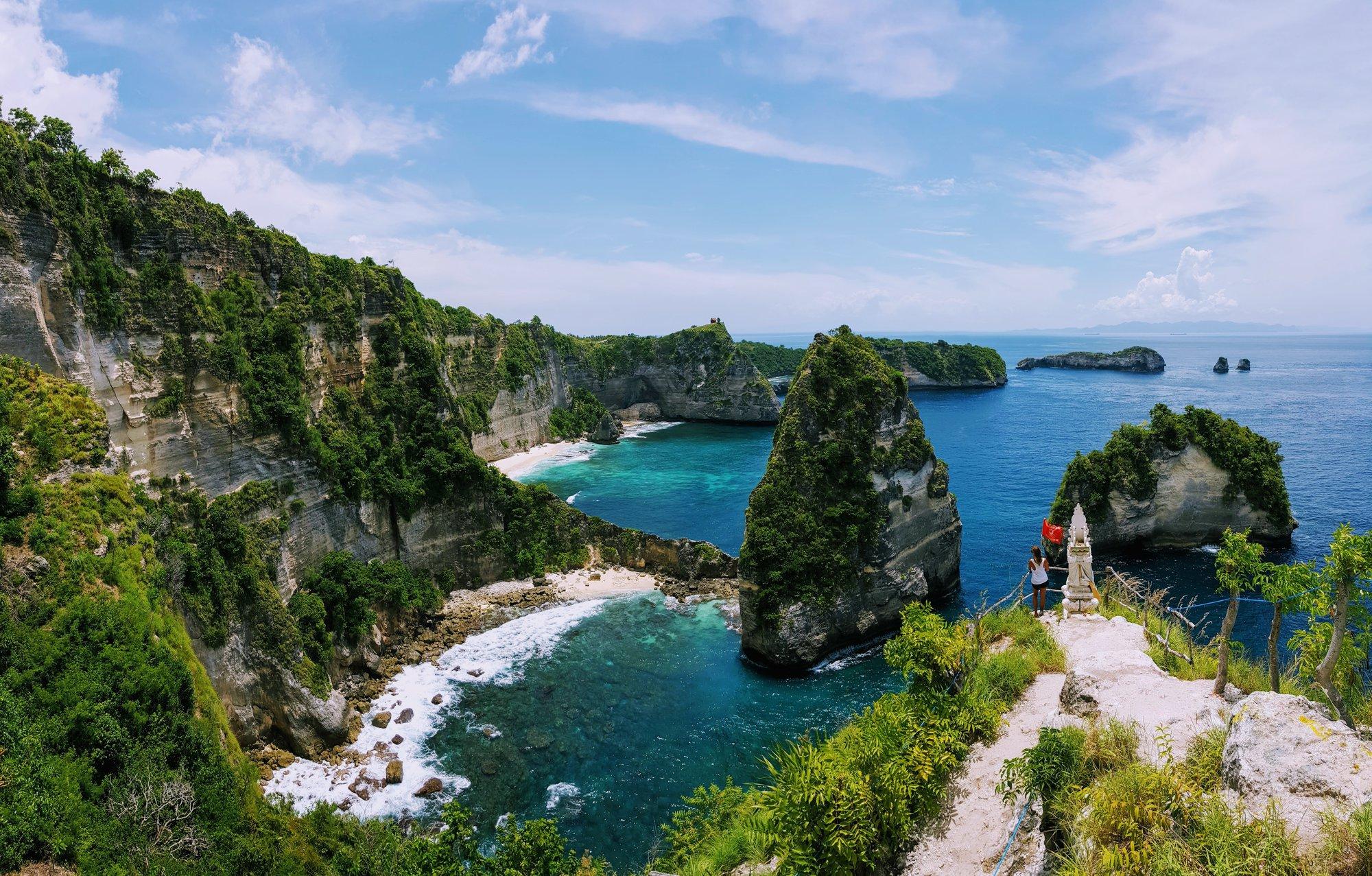 Atuh Beach – vyhlídka Tisíc ostrovů