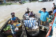 plávajúci trh Cai Rang
