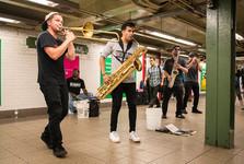 umělci v metru