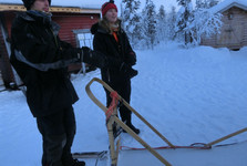 instructions for leading a dogsled