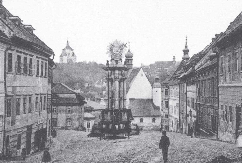 SK, Banska Stiavnica on Old Postcards (en infoglobe cz)
