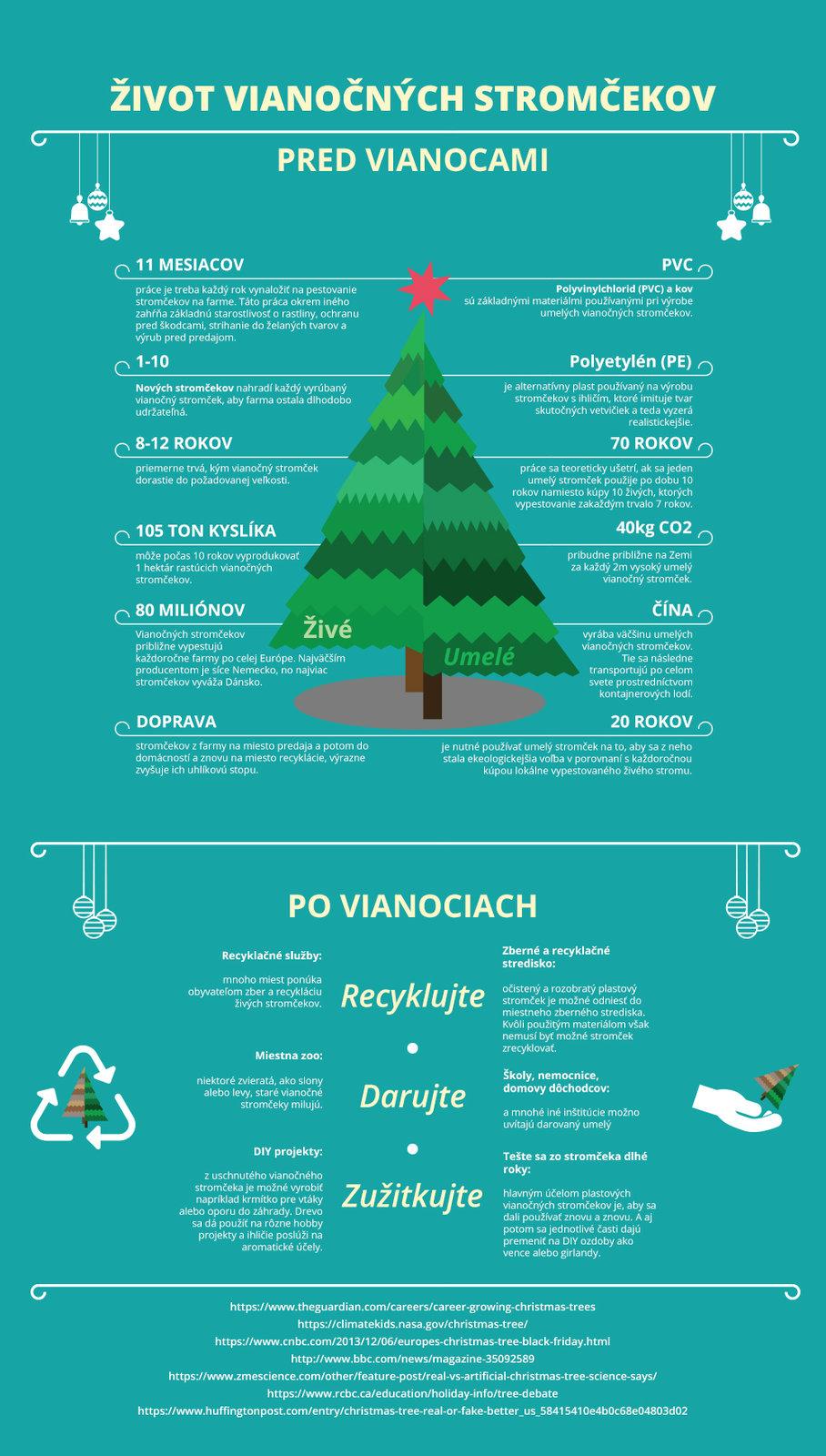 Život vianočných stromčekov - infografika ShopAlike