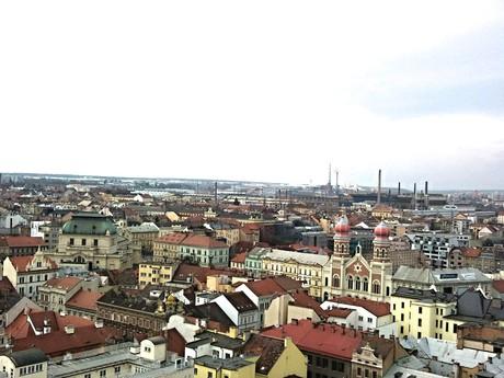 výhled z věže