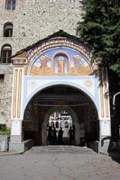 Рильский монастырь, вход