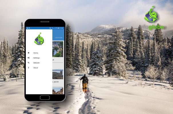 aplikácia Infoglobe - hlavné menu