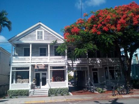 pohled na jeden z domů na Key West