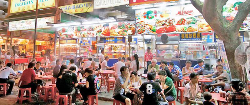 Китайский город, еда