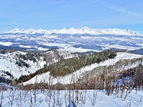 the panorama of the High Tatra Mountains
