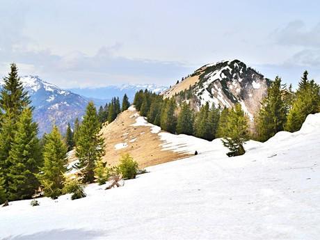 na hřebeni – cestou k vrchu Großer Zellerhut