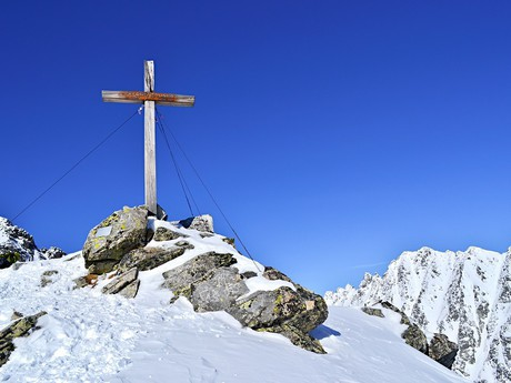 Summit Cross on Predni Solisko