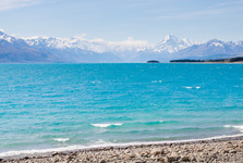 Pukaki lake and Mt. Cook