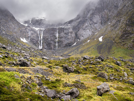 waterfalls near Homer tunnel