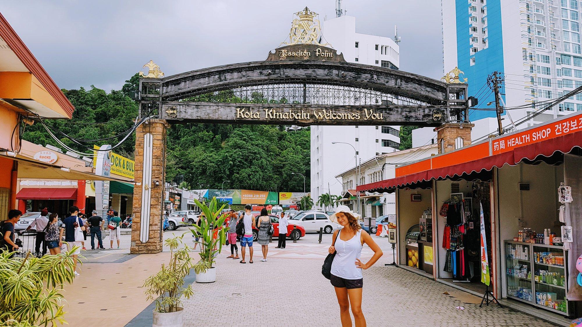 в порту Кота-Кинабалу