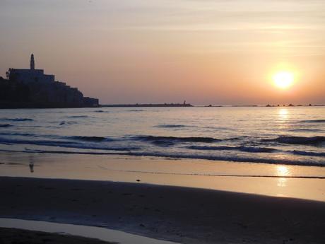 Jaffský pahorek při západu slunce