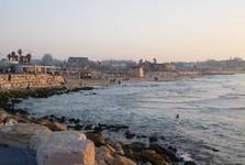 na promenádě v Tel Avivu