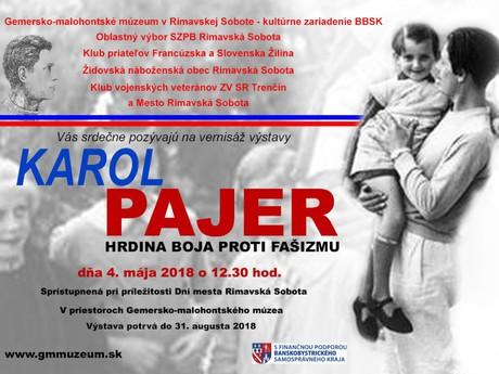 výstava Karol Pajer – hrdina boja proti fašizmu