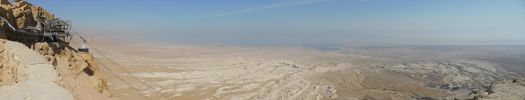 pohled z pevnosti Masada