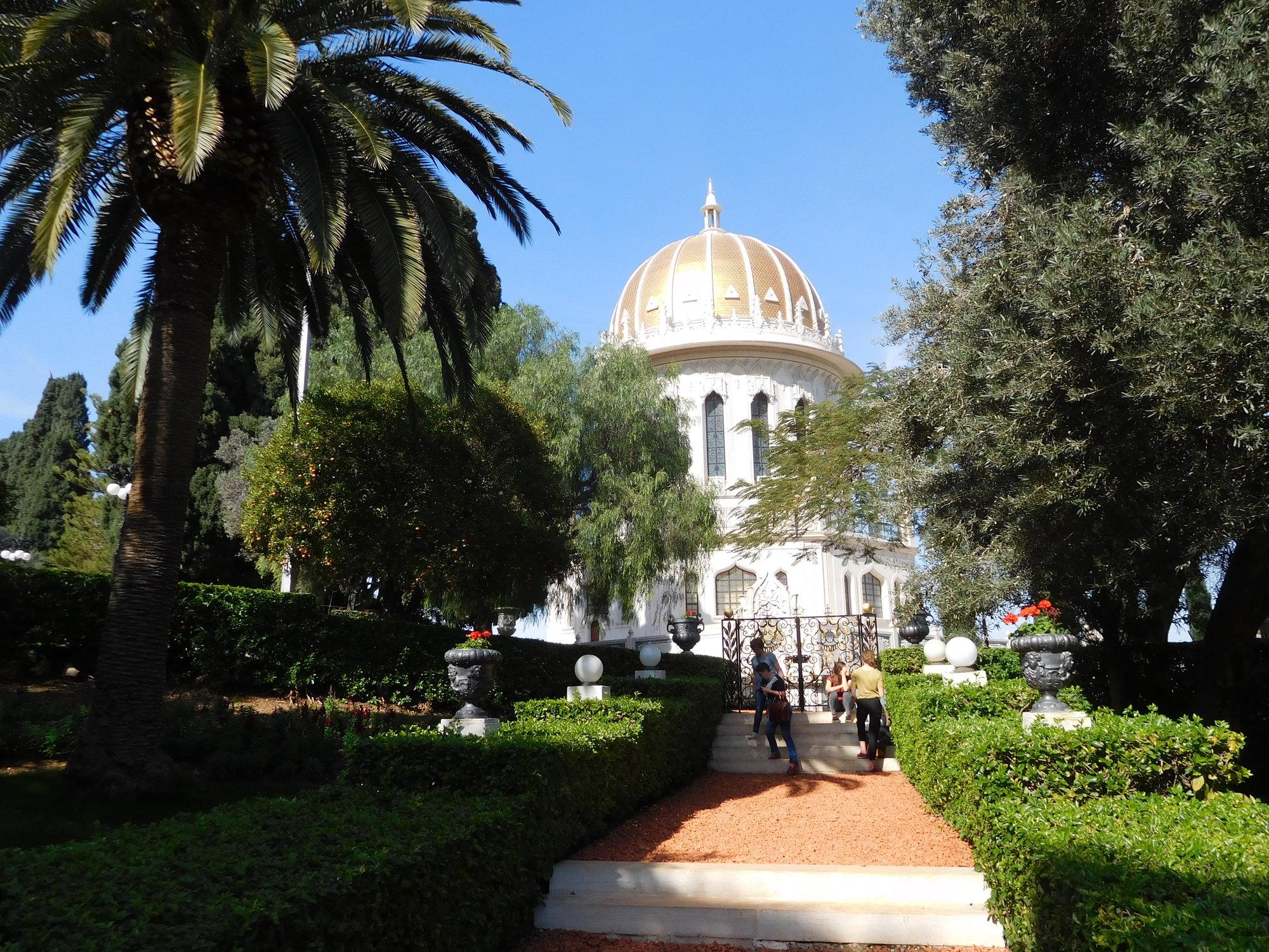 Бахайские сады – верхний доступ, храм Баба