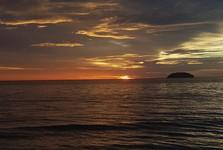 невероятный закат солнца