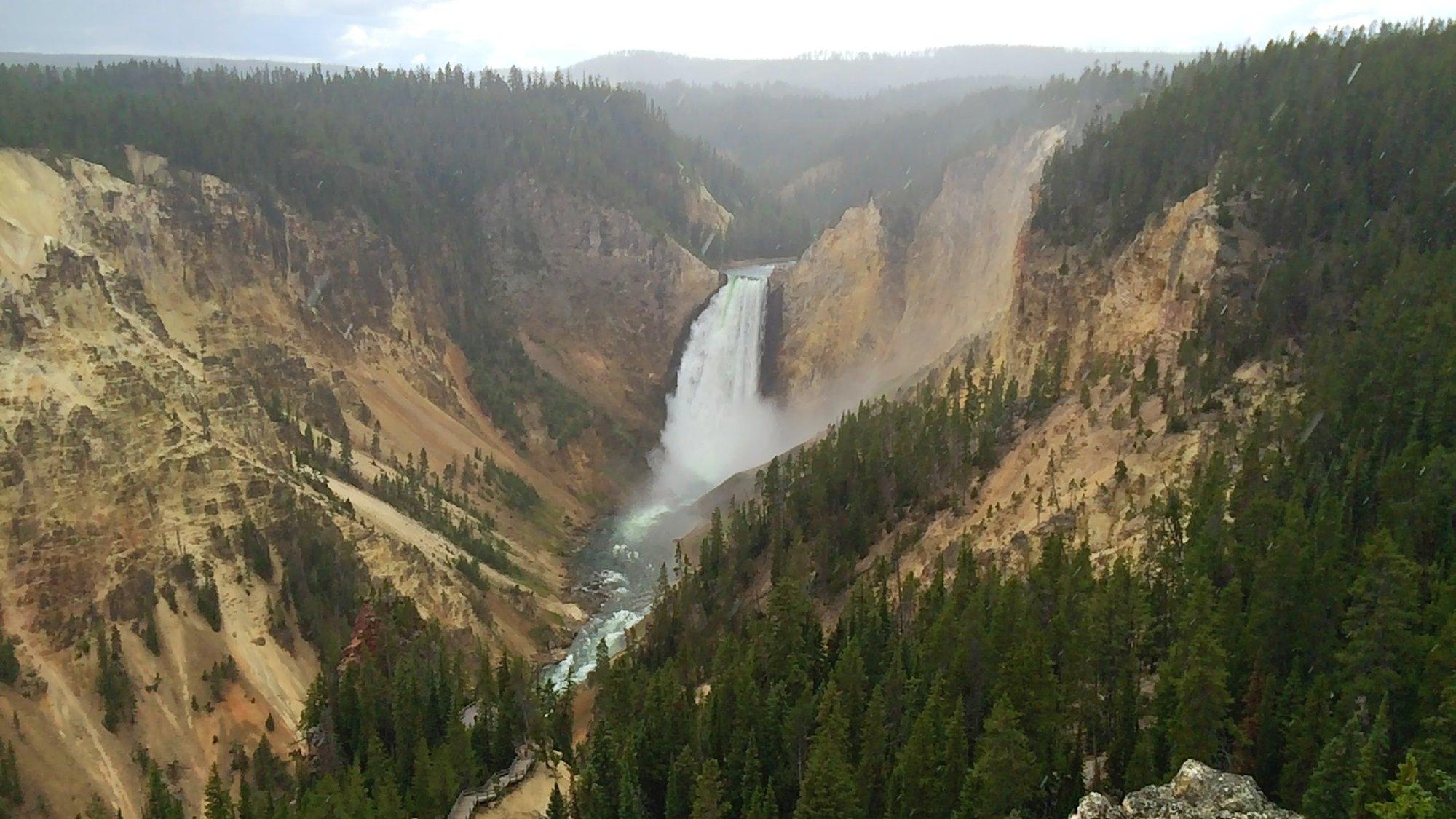 waterfall, Grand Canyon of Yellowstone