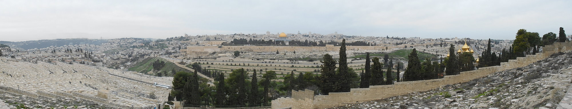 a panorama from Mount of Olives