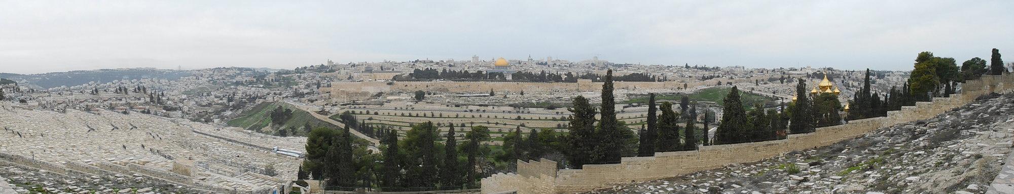 panoráma z Olivetské hory