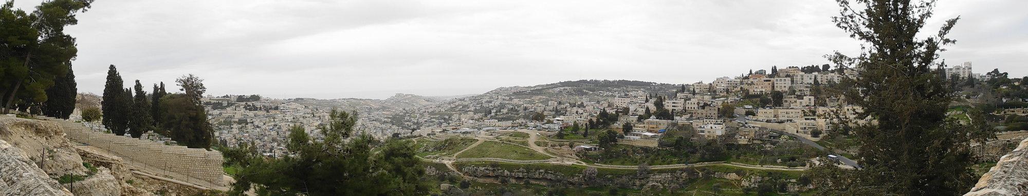 výhled na Palestinu z hory Sion