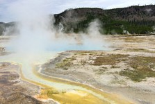 in Yellowstone, you will sometimes feel like in hell