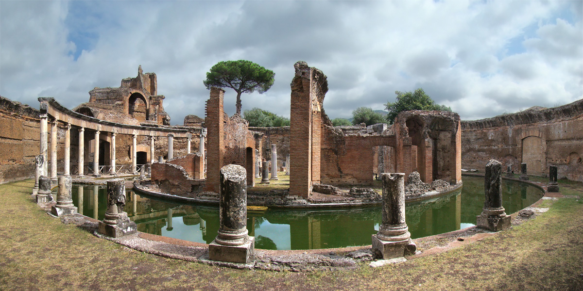 water theater, Hadrian's villa