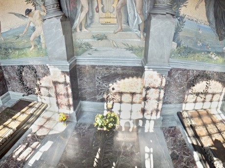the tomb of Giuseppe Verdi and Giuseppina Strepponi