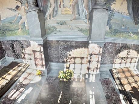 hrobka Giuseppe Verdiho a Giuseppiny Strepponi