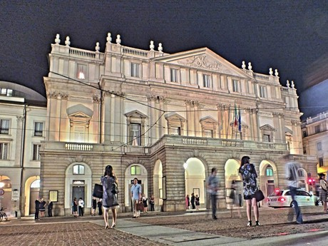 La Scala after evening performance