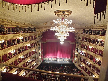 a performance in  La Scala