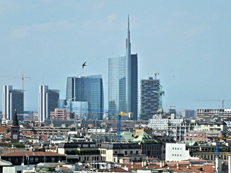 old and modern Milan