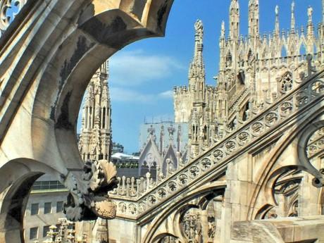 Duomo di Milano (Miláno) - výhľad zo strechy