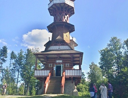 the observation tower in Roznov pod Radhostem
