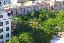 the vista form the wall over Ibiza