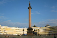 Palace Square dominated by the Column of Alexander